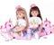 Bebê reborn menina, unicorn, princessa, cabelo comprido, loira ou morena, corpo algodão - Imagem 1