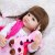 Bebê reborn girafa cabelo comprido, 100% silicone  55cm - Imagem 6