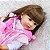 Bebê reborn coelhinho, cabelo comprido, 100% silicone  55cm - Imagem 4