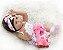 Pronta Entrega- Bebê reborn com girafa 100% silicone  48cm - Imagem 4