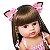 [Pronta Entrega] Bebê reborn  coelhinho, cabelo comprido, 100% silicone  55cm - Imagem 3