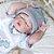 Bebê reborn menino, 100% silicone, recém nascido, 48cm - Imagem 5