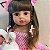 Bebê reborn Betina  silicone cabelo grande pode banhar 55cm - Imagem 2