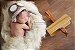 Manta para Newborn Pêlo Longo - Cor Creme - Imagem 7