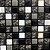 Pastilha Adesivas Resinada Marmorizada Preta com Rejunte preto EPLM368 - Imagem 1
