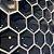 Pastilha Hexagone Preta com Pontos Espelhados Adesiva EPLHE370ESP - Imagem 2