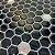 Pastilha Hexagone Preta com Pontos Espelhados Adesiva EPLHE370ESP - Imagem 1