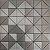 EPLM717 - Pastilha Adesiva Triangulo Inox Prata - Peça - Imagem 1