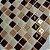 EPLMCD01 - Pastilha Adesiva Resinada Marrom, Creme com Dourado - Peça - Imagem 2