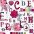 Papel de Parede Letras e Flores Pink Kids Teens  - Imagem 1