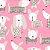 Papel de Parede Cachorro Fundo Rosa - Boys and Girls - Imagem 2