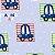 Papel de Parede Carrinhos fundo azul - Hello Kids - Imagem 1