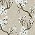 Papel de Parede Folhagem Cerejeira Branco e Fendi - Element - Imagem 1