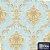 Papel de Parede Adamascado Dourado Azul - Moda - Imagem 1