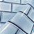 Papel de Parede Metrô Azul BeauxArts - Imagem 2