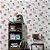 Papel de Parede Cozinha Maça e Quadrados Vermelha, Cinza e Preto - PE - Imagem 1