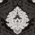Papel de Parede Adamascado Branco, Preto, Preto Fosco com Gliter - PE - Imagem 2