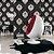 Papel de Parede Adamascado Branco, Preto, Preto Fosco com Gliter - PE - Imagem 1