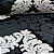 Papel de Parede Adamascado Branco, Preto, Preto Fosco com Gliter - PE - Imagem 3