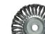 Escova de Aço carbono circular  torcida 100mm - (Furo 22mm) - MTX - Imagem 1