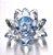 Flor de Lótus de Cristal Efeito Azul M - Imagem 2
