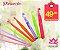 Kit de Agulhas de Plástico Colorido para Crochê com 9 unidades - Imagem 1