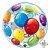 """Balão Bubble Estampado colorido - 22""""/56cm - Imagem 1"""