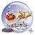 """Balão Bubble Papai Noel no Trenó - 22""""/56cm  - Imagem 1"""