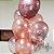 Buquê Personalizado (01 Metalizado + 04 Látex Rosê + 04 Látex c/ Confete) - Imagem 1