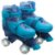 Patins 4 Rodas Paralelas Com Luz Ajustável Do 35 Ao 38 Azul - Unik Toys - Imagem 2