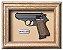 Quadro de Arma Resina Walther PPK/S cal. .380 ACP - Clássico - Imagem 1