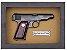 Quadro de Arma Resina Ortigies Pocket Pistol cal. 7,65mm - Clássico - Imagem 3