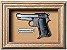 Quadro de Arma Resina Beretta Pocket Pistol mod. 1934 cal. 7,65 mm - Clássico - Imagem 1