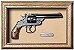 Quadro de Arma Resina Smith & Wesson D.A. cal. .44 Russian - Clássico - Imagem 1