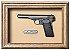 Quadro de Arma Resina Browning Pistol mod. 1922 cal. 7,65mm - Clássico - Imagem 1