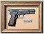 Quadro de Arma Resina M.35 Browning Hi-power cal.9mm - Clássico - Imagem 1