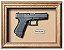 Quadro de Arma Resina Glock cal. .380 ACP-Mod. 25 - Clássico - Imagem 1
