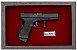 Quadro de Arma Resina Glock cal. .380 ACP-Mod. 25 - Clássico - Imagem 2