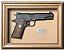 Quadro de Arma Resina Colt MK III cal. .38 SPL - Gold Cup National Match - Clássico - Imagem 1