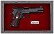 Quadro de Arma Resina Colt MK III cal. .38 SPL - Gold Cup National Match - Clássico - Imagem 2