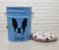 Porta Ração / Banqueta Personalizado Bulldog Frânces (Azul) - Imagem 2