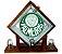 Pingometro de Bloco de vidro-  Palmeiras - COM LUZ DE LED - Imagem 2