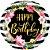 Balão Listras e Hibiscos de Aniversário - 01 unidade - Imagem 1
