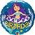 Balão Sereia Feliz Aniversário - 01 unidade - Imagem 1