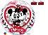 Balão Bubble Eu te Amo com Mickey e Minnie da Disney - 01 unidade - Imagem 1