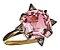 Anel turmalina rosa e diamantes cognac - Imagem 1