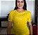 Blusa Camisa De Malha Com Renda Amarela Moda Evangelica - Imagem 1