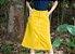 Saia Jeans  Longuete Amarela Evangelica Midi  - Imagem 3
