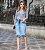 Saia Jeans Midi Destroyed Joyaly Evangelica - Imagem 2