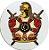 Adesivo Brasão de Armas Demolay Redondo Branco interno - Imagem 1